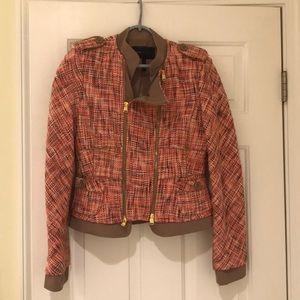 BCBGMaxazria tweed motorcycle type jacket